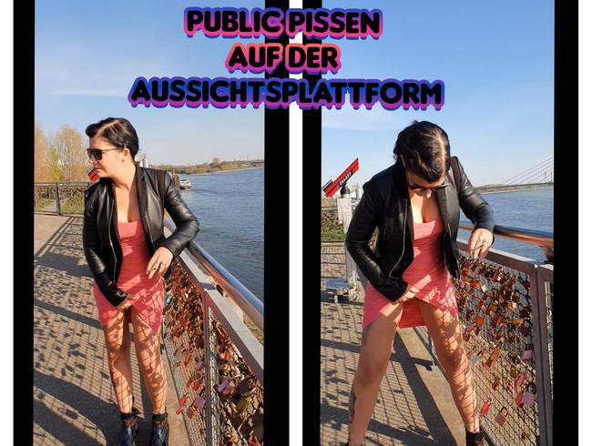 Lady_Melina_Jolie - Public Pissen auf der Aussichtsplattform.