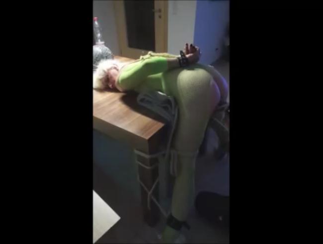 Video Thumbnail Bondage Green Catsuit