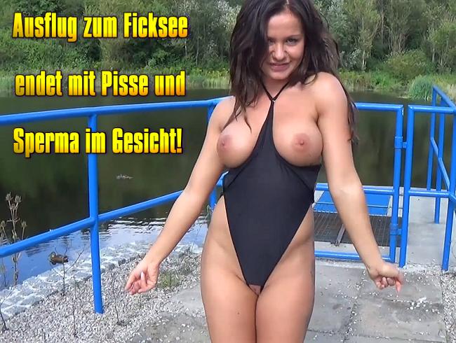 Video Thumbnail Ausflug zum Ficksee endet mit Pisse und Sperma im Gesicht!
