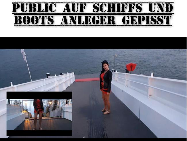 Video Thumbnail Public auf Schiffs und Boots Anleger gepisst