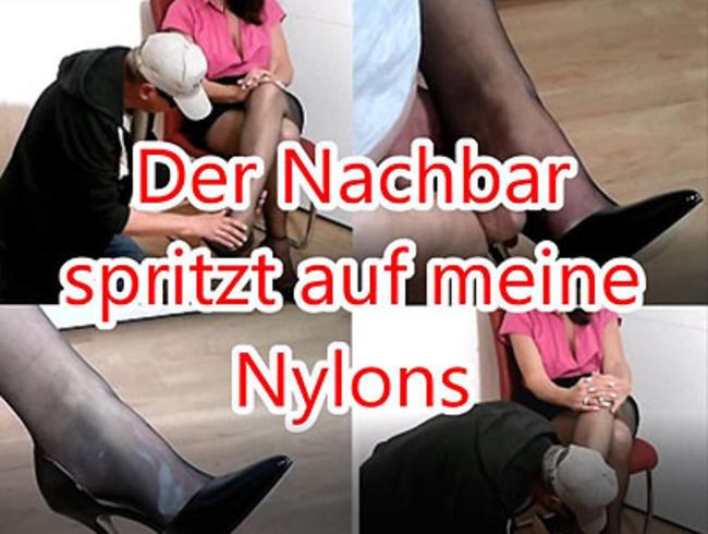 Video Thumbnail Der Nachbar spritzt auf meine Nylons