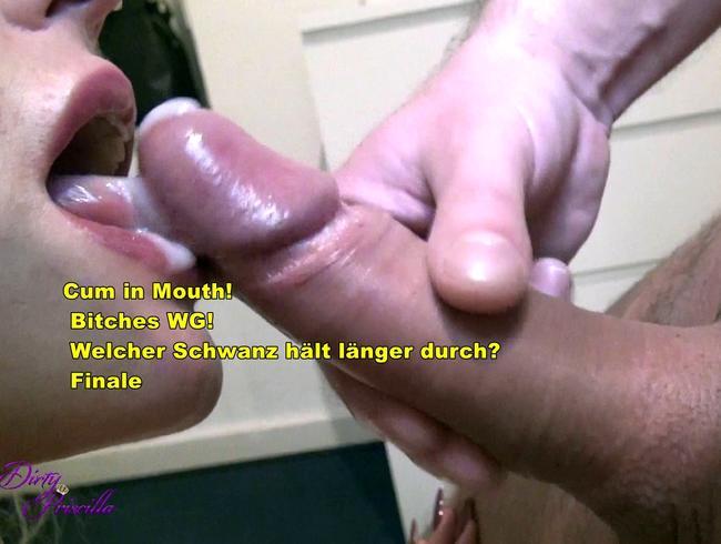 Video Thumbnail Cum in Mouth!  Bitches WG! Welcher Schwanz hält länger durch? Finale