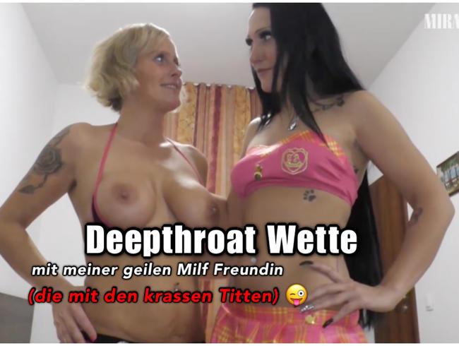 Video Thumbnail Deepthroating mit meiner geilen Titten Milf Freundin!