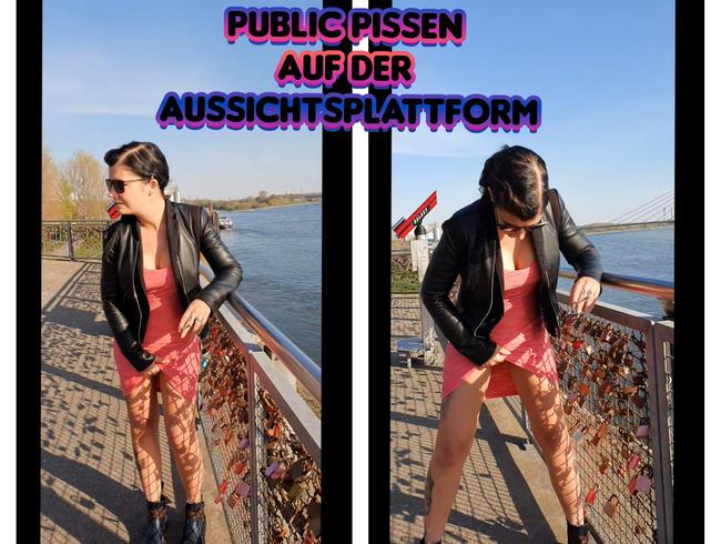 Lady_Melina_Jolie - Public Pissen auf der Aussichtsplattform