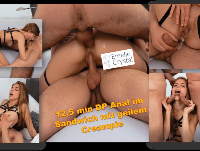 Video Thumbnail 12,5 Minuten DP Anal im Sandwicht mit genialem Creampie