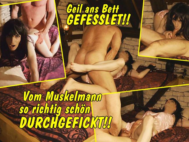 Video Thumbnail Geil ans Bett gefesselt! Vom Muskelmann richtig schön durchgefickt!!