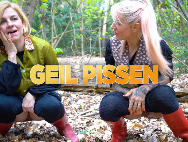 Video Thumbnail Geil in den Wald gepisst mit Fräulein Schmitt sexy Dederonkittel und Gummistiefel