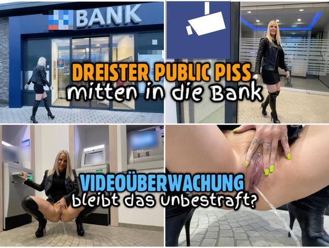 Video Thumbnail Dreister PUBLIC PISS in die Bank | Bleibt das unbestraft?