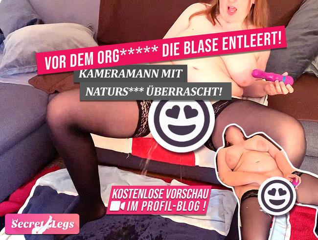 Video Thumbnail Vor dem ORGASMUS wird die BLASE entleert! - Kameramann mit Natursekt überrascht!
