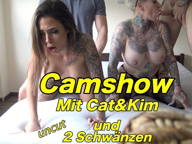 Video Thumbnail Camshow mit Cat & Kim uncut mit 2 Schwänzen