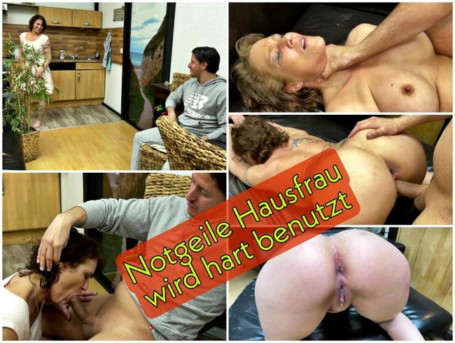 Video Thumbnail Notgeile Hausfrau wird hart benutzt