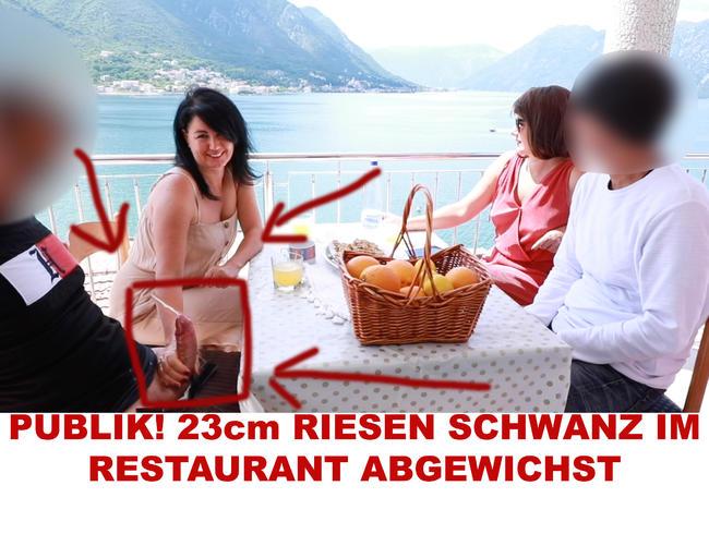 Video Thumbnail PUBLIK! 23cm RIESEN SCHWANZ IM RESTAURANT ABGEWICHST
