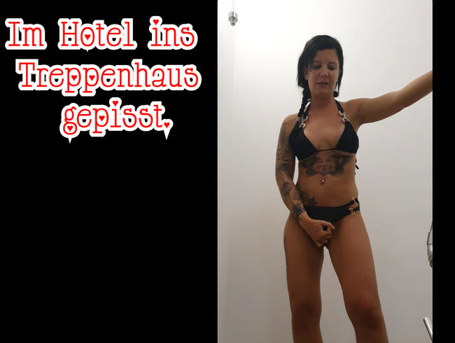 Video Thumbnail Im Hotel ins Treppenhaus gepisst.
