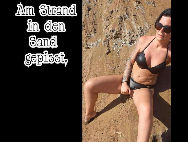 Video Thumbnail Am Strand in den Sand gepisst.