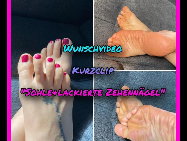 Video Thumbnail Wunschvideo - Lackierte Fußnägel