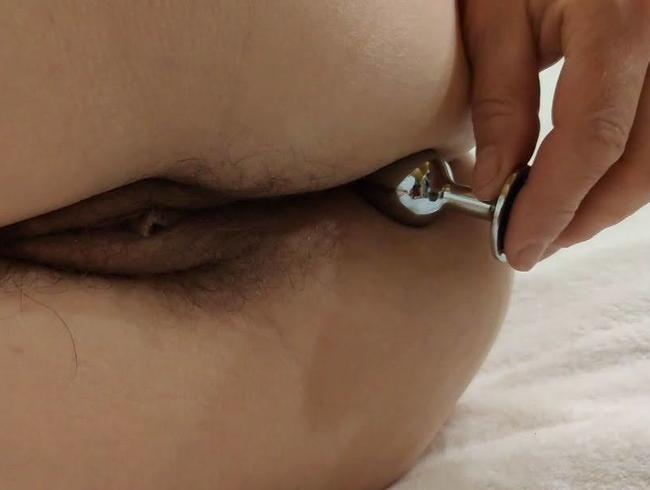 Video Thumbnail Das erste mal einen Anal-Plug im Arsch (Ohne Ton)