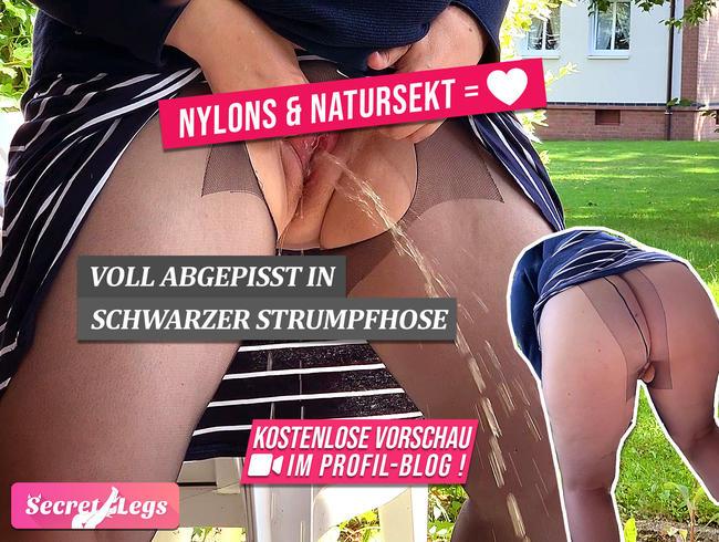 Video Thumbnail NYLONS & NATURSEKT = ?? - Voll abgepisst in schwarzer Strumpfhose