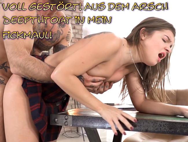 Video Thumbnail Voll gestört! Aus dem Arsch Deepthtoat in mein Fickmaul!