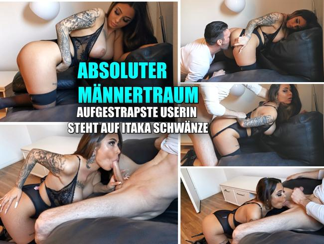 Video Thumbnail Absoluter Männertraum. Aufgestrapste Userin steht auf Itaka Schwänze