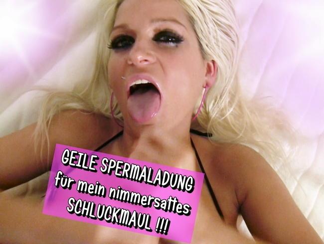Video Thumbnail GEILE SPERMADUSCHE FÜR MEIN NIMMERSATTES SCHLUCKMAUL !!!