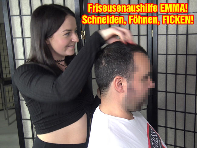 Video Thumbnail Friseusenaushilfe EMMA! Schneiden Föhnen, FICKEN!