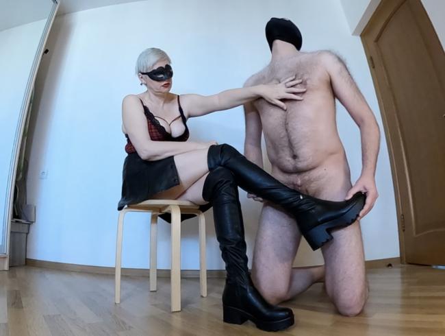 Video Thumbnail Lange Stiefel Bootjob und ruinierter Orgasmus