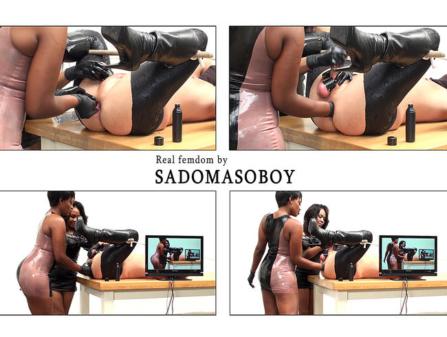 Video Thumbnail Von 2 Frauen Dominas de Arsch auf bekommen