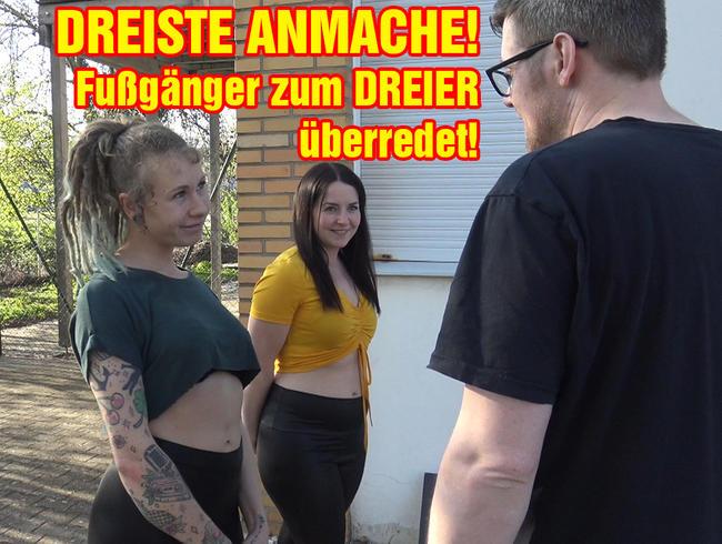Video Thumbnail DREISTE ANMACHE! Fußgänger zum DREIER überredet!