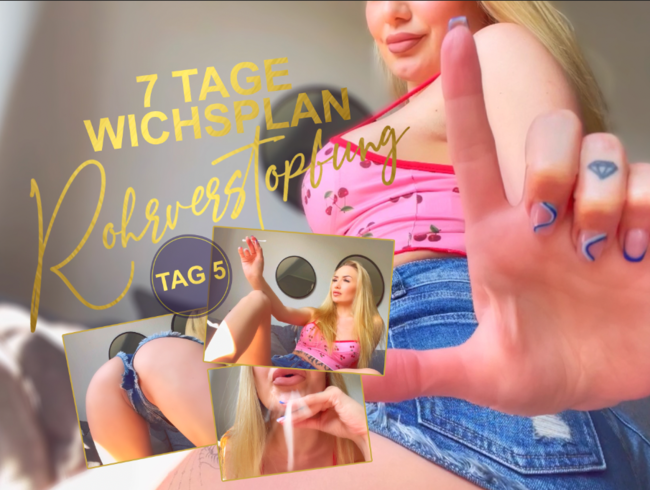 Video Thumbnail ROHRVERSTOPFUNG! Wochenwichsplan Tag 5