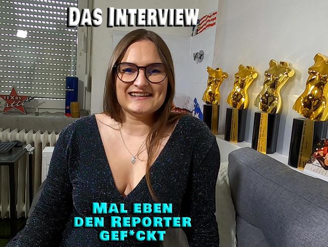 Video Thumbnail Das Interview. Mal eben den Reporter gefickt