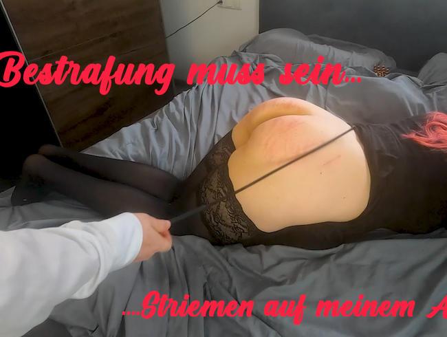 Video Thumbnail Bestrafung muss sein....Striemen auf meinem Arsch