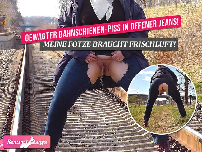 Video Thumbnail GEWAGTER Bahnschienen-PISS in OFFENER Jeans! - Meine Fotze braucht Frischluft!