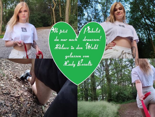 Video Thumbnail Ab jetzt Pinkelst du nur noch  draussen! Sklave in den Wald gelassen  von Lady Rosalie