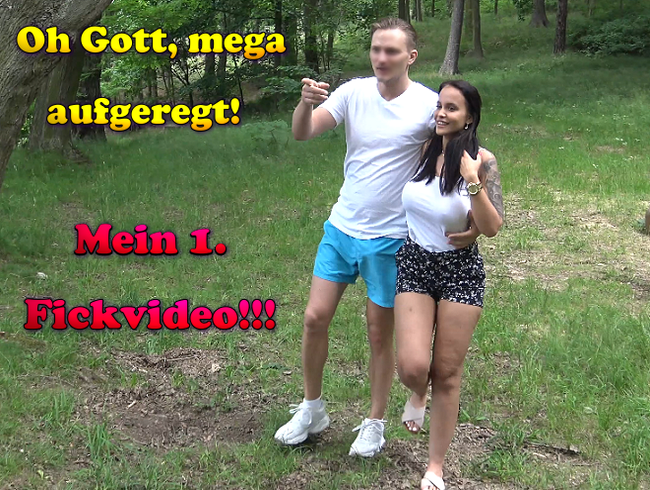 Video Thumbnail Oh Gott, mega aufgeregt! Mein 1. Fickvideo!!!