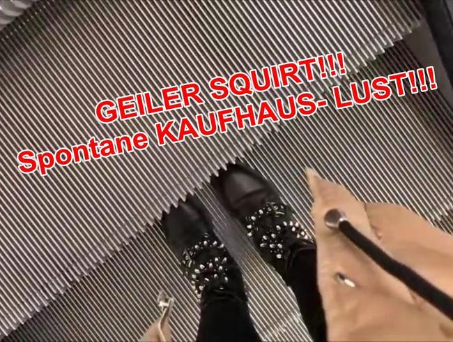 Video Thumbnail GEILER SQUIRT!!! Spontane KAUFHAUS- LUST!!!!!!