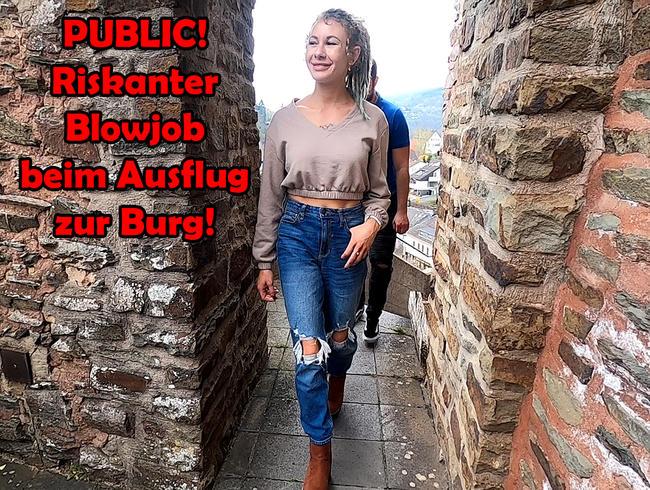 Video Thumbnail PUBLIC! Riskanter Blowjob beim Ausflug zur Burg!!