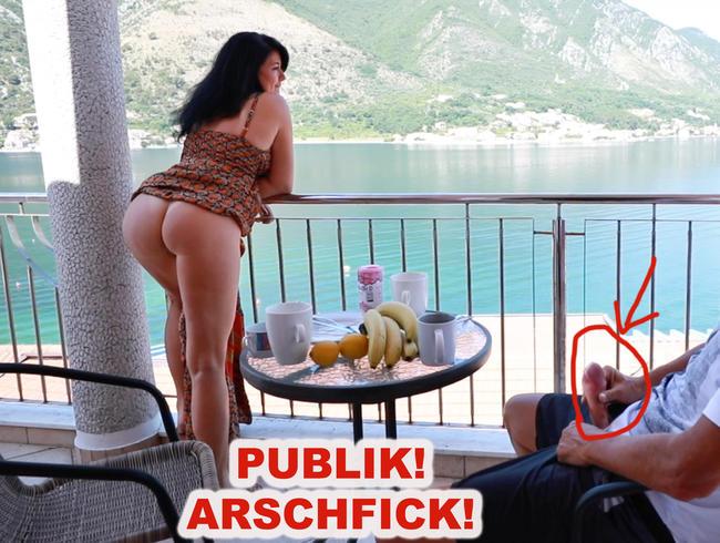 Video Thumbnail PUBLIK EXTREM! ARSCH GEFICKT AUF DER HOTELTERRASSE!