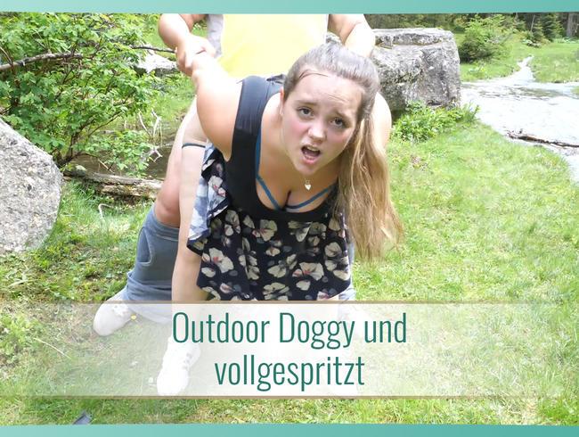 Video Thumbnail Outdoor Doggy und vollgespritzt