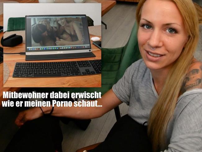 Video Thumbnail Mitbewohner beim Porno schauen erwischt und abgemolken!