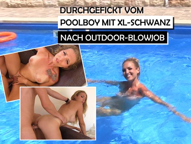 Video Thumbnail Poolboy mit XL-Schwanz fickt mich durch nach Outdoor-Blowjob!