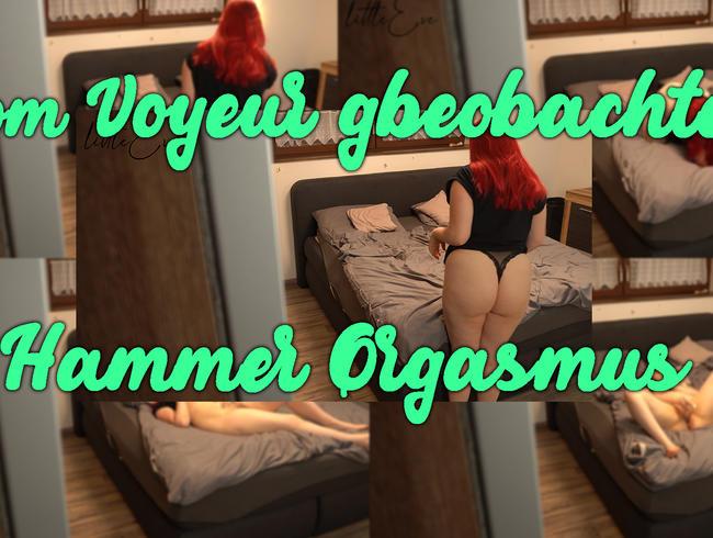 Video Thumbnail Vom Voyeur beobachtet - Hammer Orgasmus