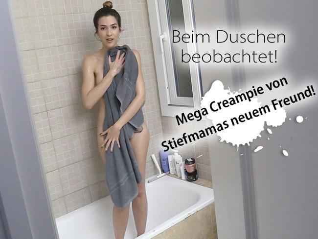 Video Thumbnail Beim Duschen beobachtet! Mega Creampie von Stiefmamas neuem Freund! REUPLOAD