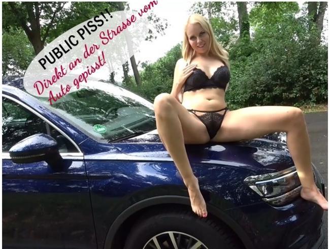 Video Thumbnail PUBLIC PISS !! Direkt an der Strasse vom Auto gepisst!
