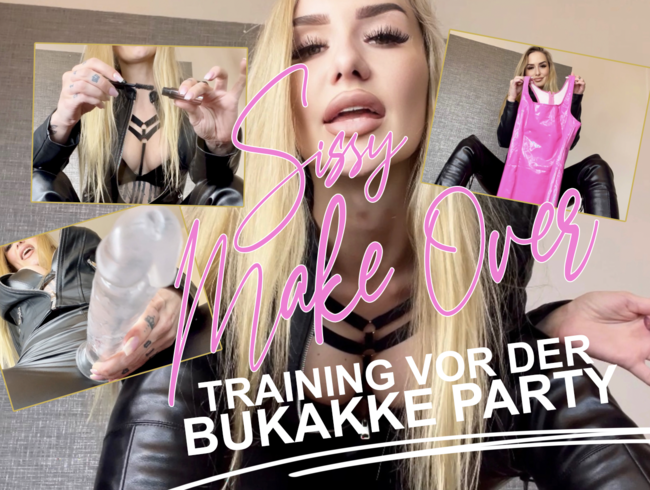 Video Thumbnail SISSY MAKE-OVER! Training für die BUKKAKE-PARTY!