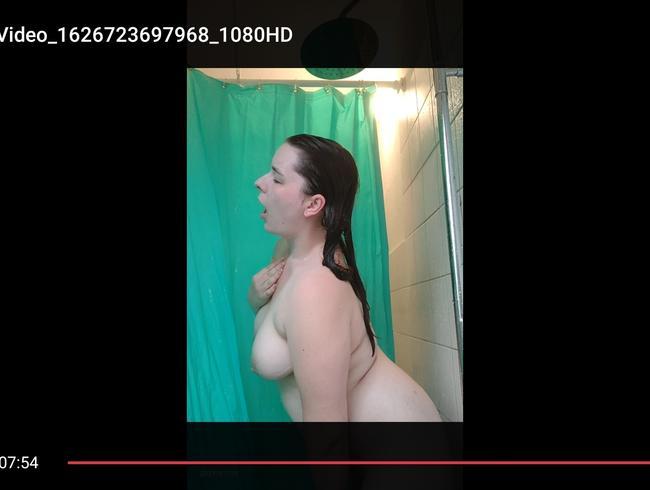 Video Thumbnail Hast du mich heimlich beim duschen gefilmt? MILF Körper, Duschbrausen befriedigung!