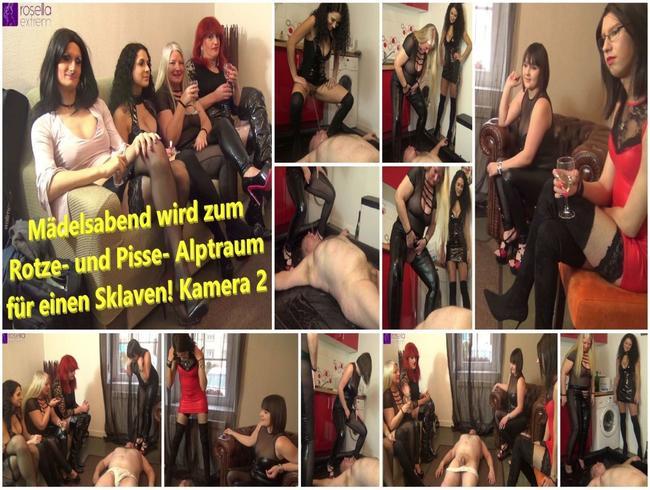 Video Thumbnail Mädelsabend wird zum Rotze- und Pisse- Alptraum für einen Sklaven! Kamera 2