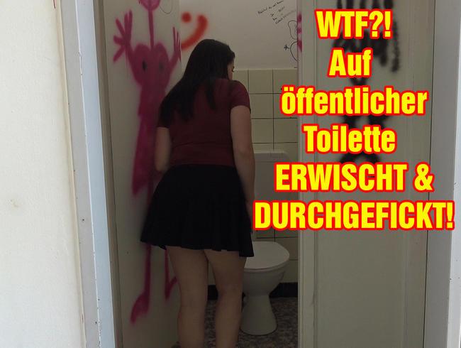 Video Thumbnail WTF?! Auf öffentlicher Toilette erwischt und durchgefickt!