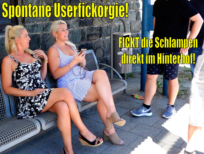 Video Thumbnail Spontane geile Userfickorgie | FICKT uns Schlampen einfach direkt im Hinterhof...!