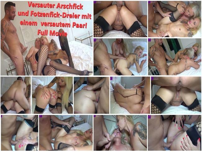 Video Thumbnail Versauter Arschfick und Fotzenfick-Dreier mit einem  versautem Paar! Full Movie
