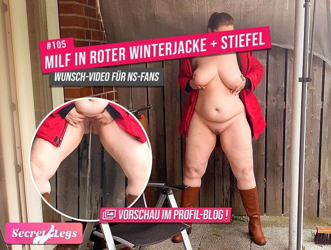 Video Thumbnail MILF in roter Winterjacke + Stiefel - Wunsch-Video für NS-Fans